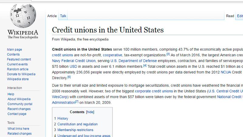 Enlaces y Noticias - Información sobre las cooperativas de USA conocidas como Las Credit Union