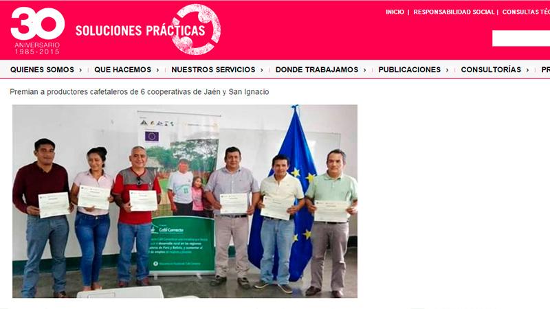 Enlaces y Noticias - Premian a Cooperativas Cafetaleras de Jaen y San Ignacio