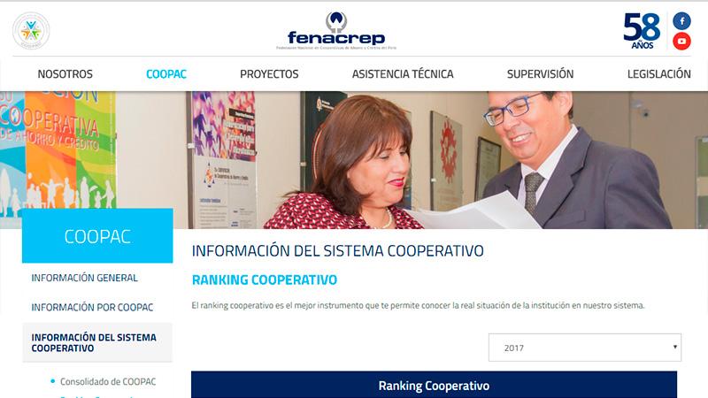 Enlaces y Noticias - Ranking Fenacrep - Resultados de las Cooperativas peruanas